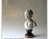Vintage French Parian Porcelain Bust of a Child - Limoges - Porcelain- Art Sculpture