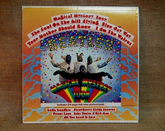 The Beatles - Magical Mystery Tour - 1969 Vintage Vinyl Gatefold Record Album...w/24-Page Full Color Picture Book