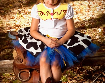 Girls Jessie from Toy Story Inspired Tutu Dress Halloween Costume (Newborn - 5T)