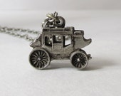 Emmons Stagecoach Carriage Charm Necklace Vintage Emmons Necklace
