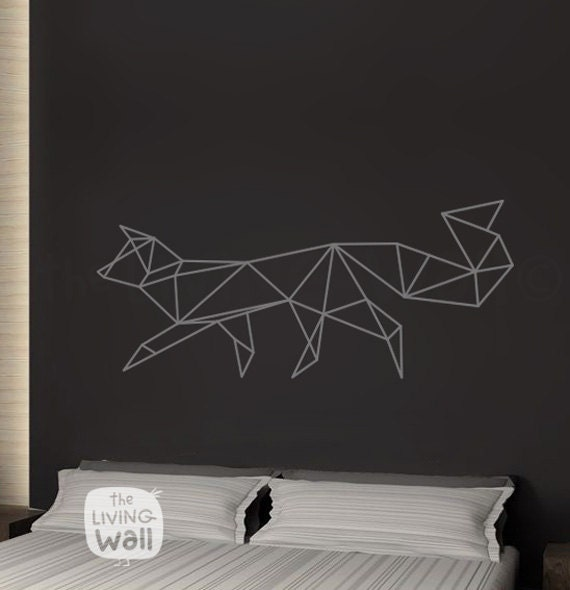Geometric Fox Wall Decal Home Decor Vinyl Wall Stickers Geometric Woodland Wall Art Australian