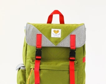 Adventure Backpack in Olive Green - Free Shipping