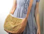 Cross Body Purse Hippie Meadow Round