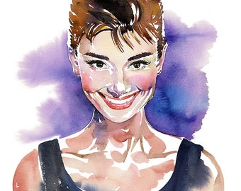 Audrey, limited edition fine art (giclée) print, 12 x 16 inches( 30.5 x 40.5 cm.)