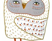 Nursery art baby nursery decor nursery print Kids art illustration print - ''Owl Babe''.