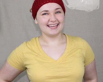 Crochet Headwrap / Earwarmer / Headband / THE CHLOE HEADWRAP