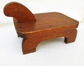 Vintage Stepstool | Wood Turtle | Foot Stool | Wooden Step Stool | Door Stop | Kids Stool