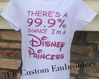 CHILD or ADULT SIZE 99% Disney Princess Tee