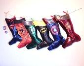 Set of 4 Christmas stocking- Superhero Personalized stockings