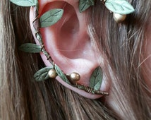 Elven forest earcuff leaves