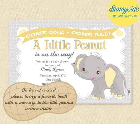 Elephant Baby Shower Invite with great invitation example
