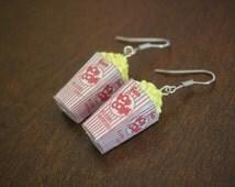 Popcorn Miniature Food Earrings