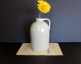Vintage Large Ceramic Jug Wide Mouth, Home Decor
