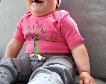 Baby girl tree set/ baby bodysuit with matching yoga pants
