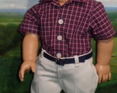 1950's All Occasion Pants and Shirt for 18 inch Boy Dolls