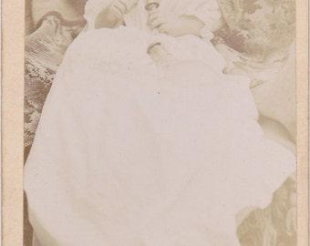The Killer Bottle- 1800s Antique Photograph- Victorian Baby Bottle- CDV Photo- Banjo Feeding Bottle- Bluffton, Indiana- Paper Ephemera