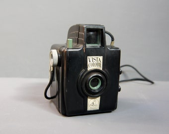 Vintage 1940s Vista Colour Bakelite Camera Made In England
