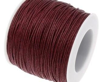 Waxed Cord : Merlot .7mm Waxed Cord String | Bracelet Cord | Macrame Cord | Chinese Knotting Cord [Choose 10 feet or 30 feet]  .7/179-30