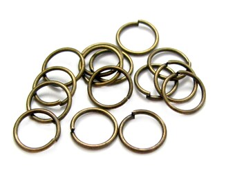 7mm Jump Rings : 100 Antique Bronze Open Jump Rings 7mm x .7mm (21 Gauge) | 7mm Brass Ox Jump Rings -- Lead, Nickel, & Cadmium free 7/.7-1