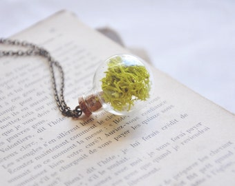 glass orb terrarium necklace