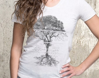 Tree Diagram Women's T-Shirt - American Apparel Women's Tri-Blend T-Shirt - Women's Small Through XL Available