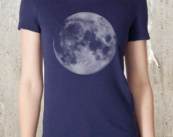 Women's Full Moon T-Shirt - American Apparel - Available in S, M, L, XL, and XXL