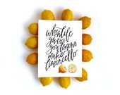 Limoncello Lemons | Watercolor Art Print