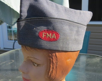 1950's Mens Garrison Hat with FMA Patch Air Force Blue