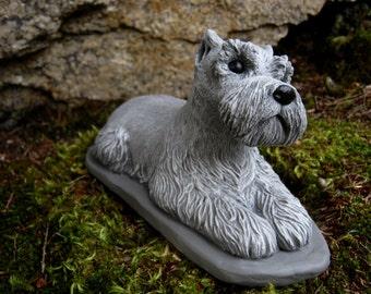 Schnauzer Statue, Schnauzer Dogs, Concrete Dog Statue, Cement Dog Figure,  Statues Of