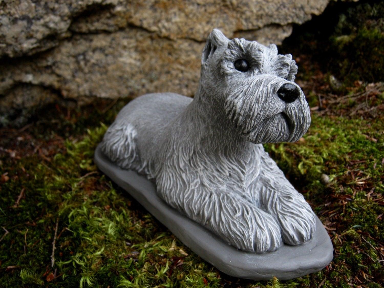 Schnauzer Statue Schnauzer Dogs Concrete Dog Statue Cement