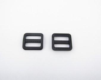 10 pieces 3/4 inch plastic strap slide adjuster