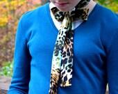 Women's Neck Tie Leopard Print Animal Print Neck Bow Lightweight Scarf Layering Fashion Accessories Hair Tie Ladie's Ascot