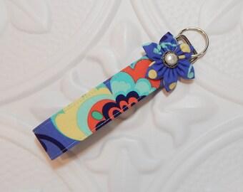 Keychain Key Fob - Fabric Keychain - Key Fob Wristlet - Teacher Appreciation