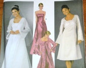 Simplicity 5246 Evening Bridal Dress, Shrug, Duster, Train Womens Misses Sewing Pattern Size 6 8 10 12 Bust 30 31 32 34 Uncut Factory Folds