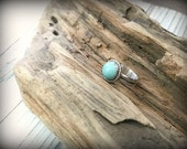 Amazonite Sterling Silver Ring - Size 7.25