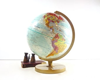 Vintage Globe / 1970s Replogle World Motion Globe