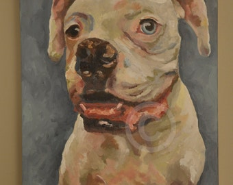 CUSTOM Dog Portrait - Original Oil Painting