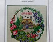Cross Stitch Pattern COTTAGE IN SUMMER By Ellen Maurer Stroh For Wichelt Imports