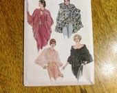 ELEGANT Evening Cover Ups - Cocoon Jacket, Ruffle Shawl / Poncho, Sheer Shoulder Cape - UNCUT Vintage Sewing Pattern Vogue 8151