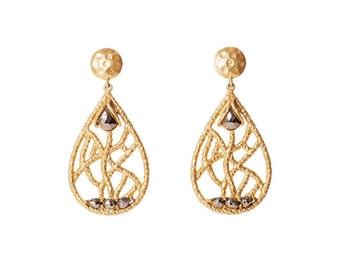 Madison Chandelier Earring - Pyrite