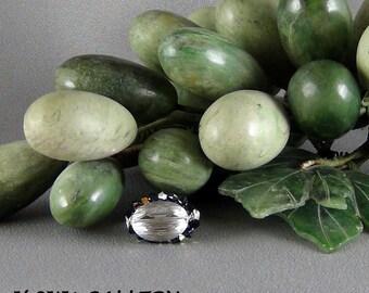 Wirewrapped Ring, 24ga SS Round Wire, Size 6 - Swarovski Crystals, Hand Crafted Artisan Jewelry