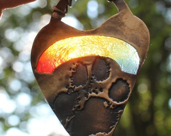 Paw Print Pendant, Dog Nose Jewelry, Dog Paw Jewelry, Bronze Dog Print, Rainbow Bridge, Rainbow Bridge Jewelry, Car Hanger, Rearview