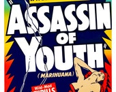 Assassin of Youth Vintage Reprint Poster