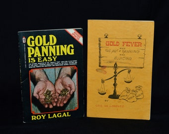 Vintage Gold Prospecting Books - Gold Panning, Sluicing, Metal Detecting, etc... Vintage Illustrated Guides - How & Where to Find Gold!