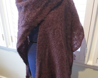 Vintage Purple Shawl Cape