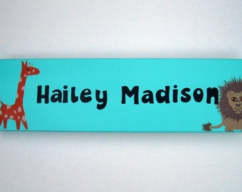 Room Sign, Child's Name Sign, Wooden Name Sign, Name Sign, Custom Hand painted Name Sign, Name Sign, Baby's Room, Custom Nursery Decor