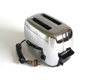 General Electric Toaster Chrome Vintage 1950s Model AIT82