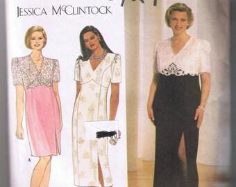 Simplicity 7622 JESSICA McCLINTOCK Women's Dress -Sizes 18W, 20W, 22W, 24W UNCUT Factory Folded
