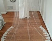 one layer cathedral lace veil in Ivory