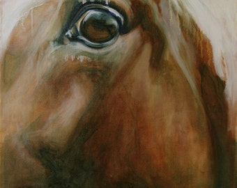 Original Horse Oil Painting, Contemporary Fine Art, Animal Art, Modern Horse Art